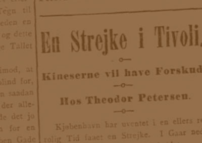En strejke i Tivoli